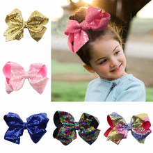 8inch Boutique Baby Girls Sequins Colorful Children'S Accessories Party Accessories Dancing Girl JoJo Siwa(China)