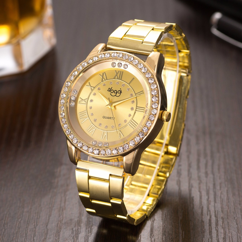 Hot Selling Stainless Steel Watch Women And Men Roman Numerals Alloy Watches Diamond Quartz Watch Autumn New Relogio Masculino