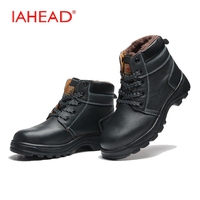Men Boots Men Winter Fluff Snow Shoes High Quality Safety Boots Wear Resisting Casual Work Shoes