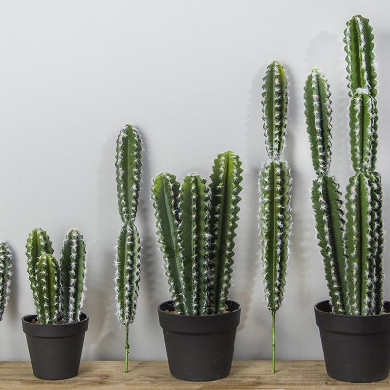 Real touch Large Artificial Cactus Plastic Foam Succulent plants flores home office table decoration flowers DIY desert plants