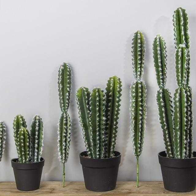 real touch large artificial cactus plastic foam succulent plants