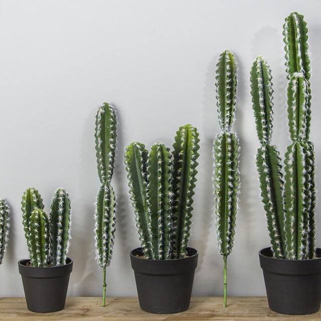 real touch large artificial cactus plastic foam succulent plants