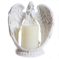 Crafts Modern Home Decoration Accessories Creative Prayer Angel Electronic Candle Figurines Ornaments Birthday Gifts Toys