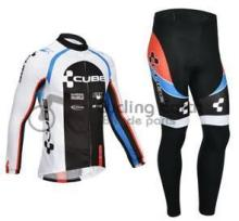 2013 NEW!!! CUBE #2 team long sleeve autumn cycling wear clothes bicycle bike cycling jerseys pants set ropa ciclismo maillot