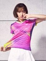 Summer Badminton Wear Women's Quick drying Breathable Sports Badminton Women's Shirt Slim Short Sleeve