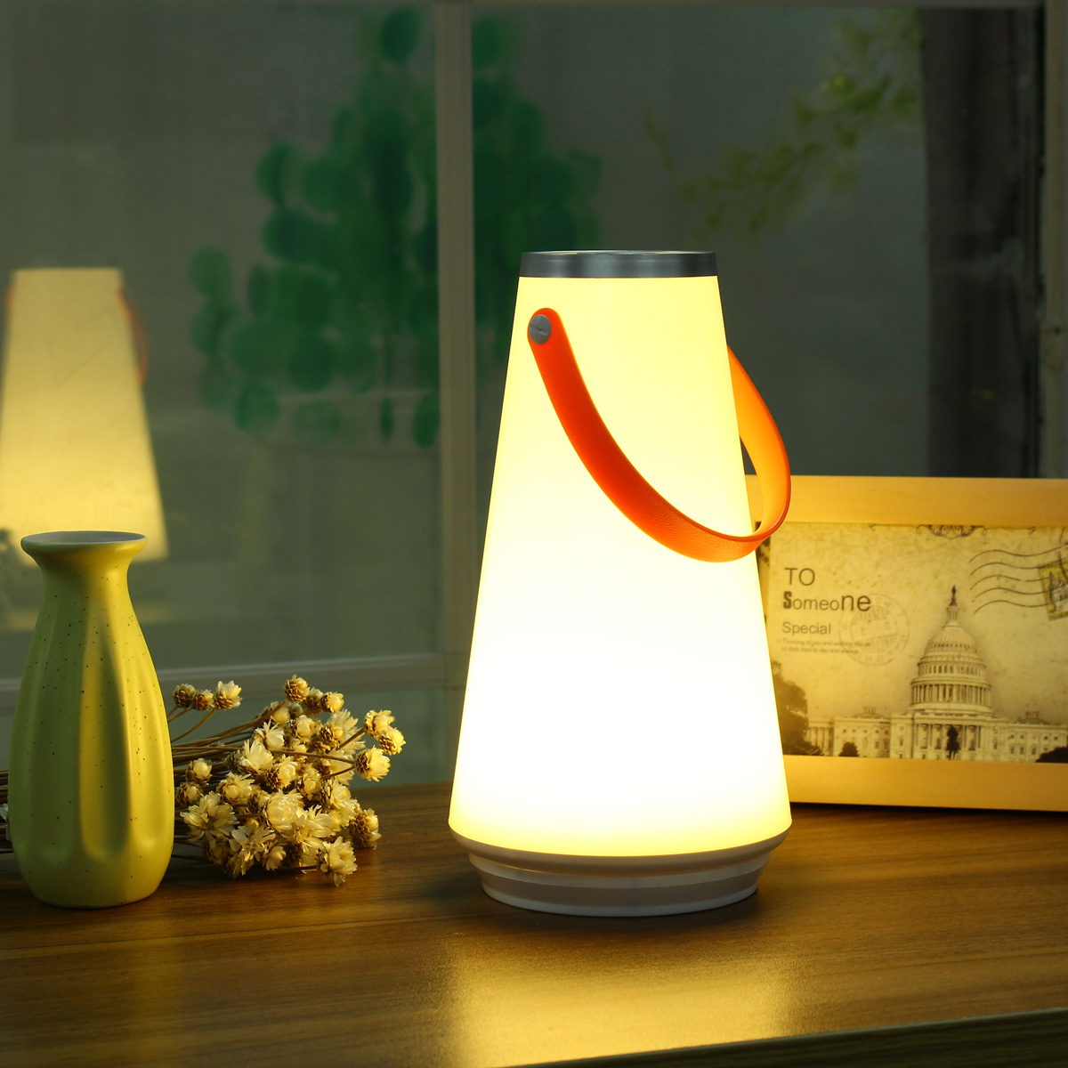 LED Portable Hiking Camping Tent Lantern Night Light USB Rechargeable Dimmable Bedroom Night Lighting Hanging Lamp