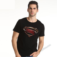 Wishining 2017 New Design Superman T-shirt High Quality Unisex Black Plus SIze 3xl 4xl xxxxl Superheroes Tees Cool
