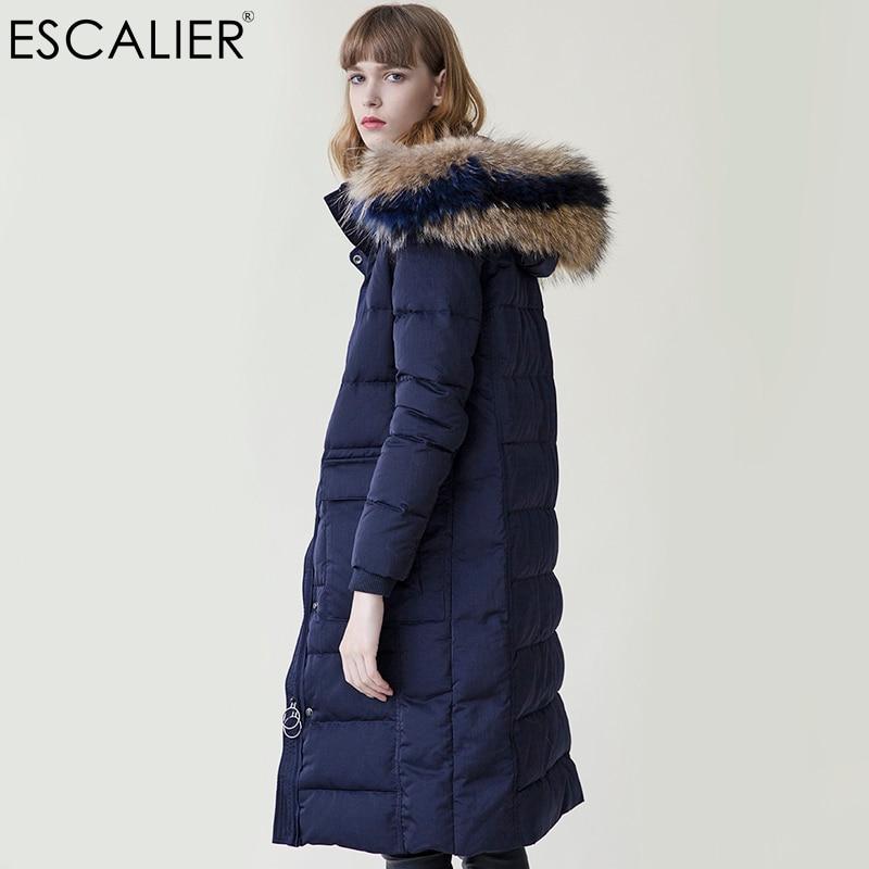 d2abe2881 Winter Women Waterproof Down Coats Long Parka Removable Fox Fur Hooded  Winter Thick long type Down ...