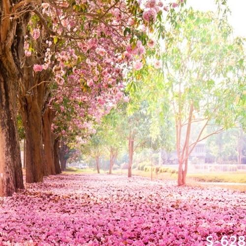 10x10ft light pink flowers trees road passage park lake wedding 10x10ft light pink flowers trees road passage park lake wedding custom photography backdrops studio backgrounds vinyl mightylinksfo