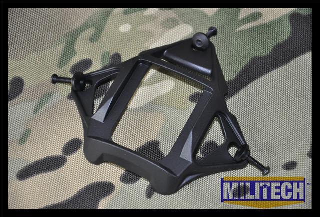 BK preto Cor Alumínio Esqueleto MARSOC WARCOM Night Vision 3 Furos Sudário NVG Goggle Monte Base Ops Núcleo Esqueleto Sudário