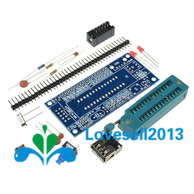DIY Kit ATmega8 ATmega48 AVR Minimum System Development Board Kits Miniature Mini Electronic Suite Parts Without Chip