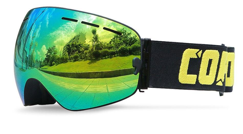 Le Jeune moderne.Activités plein air-Lunettes de ski double couches UV400 anti-buée Ski, snowboard hommes femmes-Lunettes de ski snowboard pour homme et femme tendance. De marque COPOZZ, ces lunettes vous protégeront du soleil avec leur indice UV400. Choisissez votre modèle, et dévalez les pistes enneigées en toute sécurité. Les lunettes COPOZZ sont dotées d'un design OTG (sur lunettes) qui vous permet de porter vos lunettes sous les lunettes.