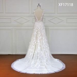 Image 3 - Robe de mariée en dentelle japonaise, avec fleurs sur mesure, avec perles de cristal, robes de mariée bonne qualité, modèle offres spéciales, XF17118