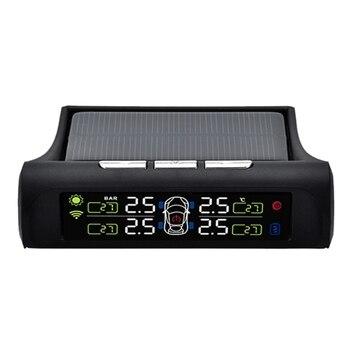 태양 tpms lcd 타이어 압력 모니터링 시스템 자동 경보 시스템 외부 센서