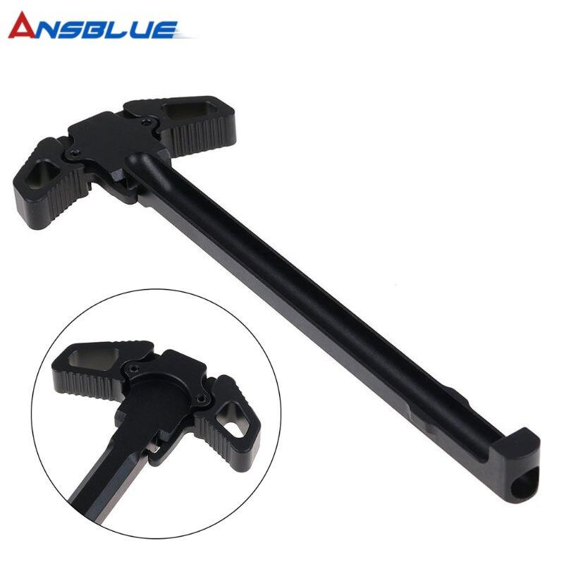 Borboleta tática puxando alça para AR-15/m4 lidar com armas de brinquedo criança acessórios nova atualização preto ar metal ambidextro lidar com