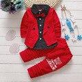 OLEKID Nova Moda Baby Boy Roupas Bowknot Letra Imprime Roupas Bebê Recém-nascido Menino Primavera Outono Bebê Conjunto Roupa Infantil