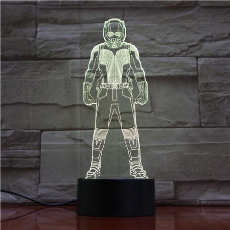 Novelty Lights 3d Lamp Scott Lang The Avengers 4 Superhero Ant Man 2 Figure Office Decoration Cool Gift 3d Led Night Light Lamp