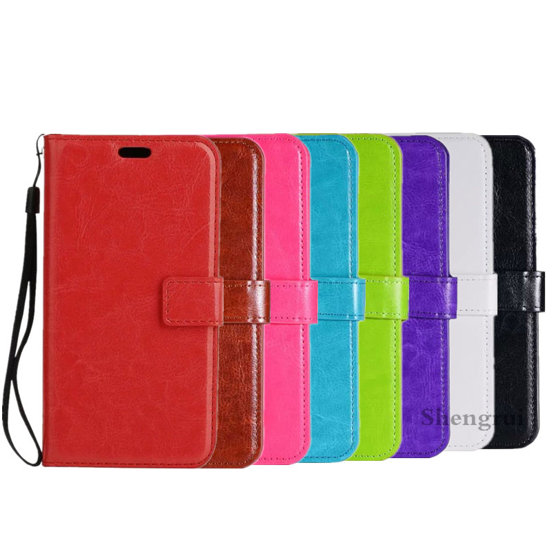 50pcs lot New Crazy horse grain wallet PU Leather case cover For Iphone 7 7G 8