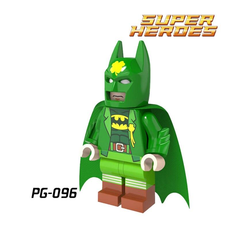 1 ШТ. Зеленый Бэтмен diy цифры Бэтмен Фильм Super Heroes Темный Рыцарь Собрать Кирпичи Building Block Дети Дети DIY игрушки