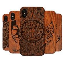 Tiger capinha de telefone luxuosa madeira, para iphone x xs max xr 5 5S 6plus 6s capa de madeira completa para iphone se, 7, 8 plus, 2020