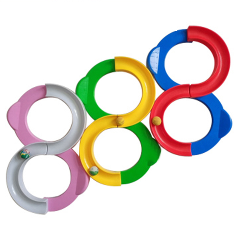 Rolling ball game eye hand coordination training educational toy 8 shape track