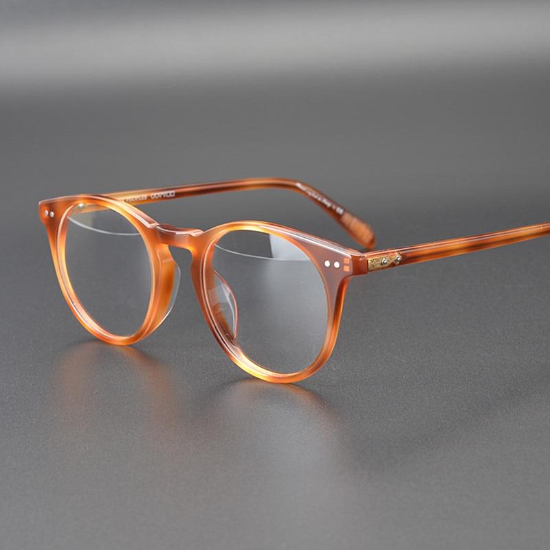 OV5256 Vintage Round Eyeglasses Frame Women Sir O'malley Prescription Glass Men Optical Eye Glasses Frame Eyewear Glasses Frame