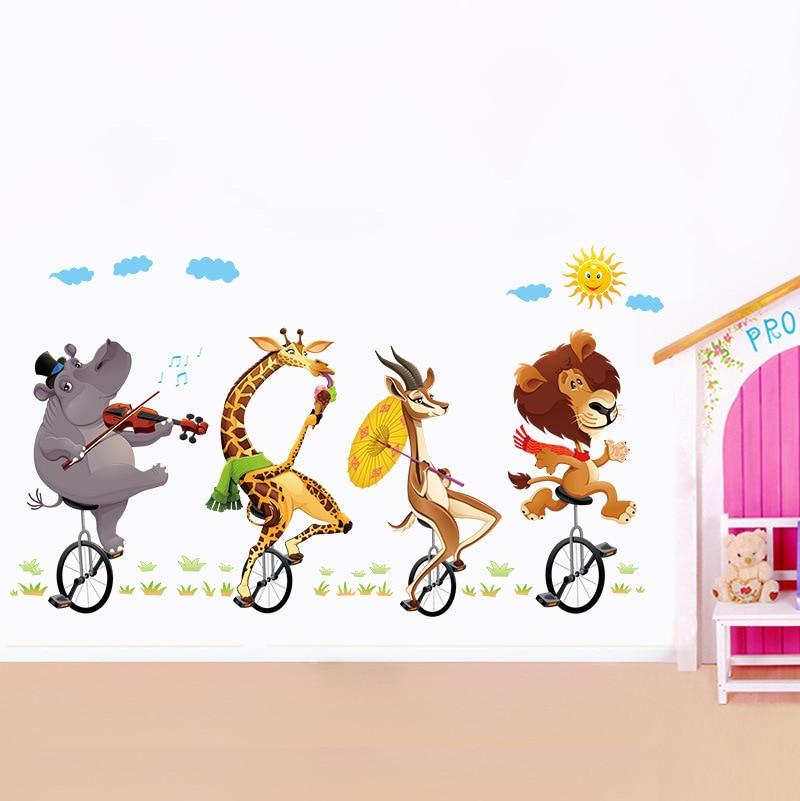 Muurstickers Babykamer Jongen.Mooie Animal Patroon Babykamer Muurstickers Kinderkamer Jongen