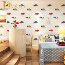 Minimalist Children Cartoon Cars Wallpaper For Walls Girls Boys Bedroom Children s rooms Home Decor Nonwoven