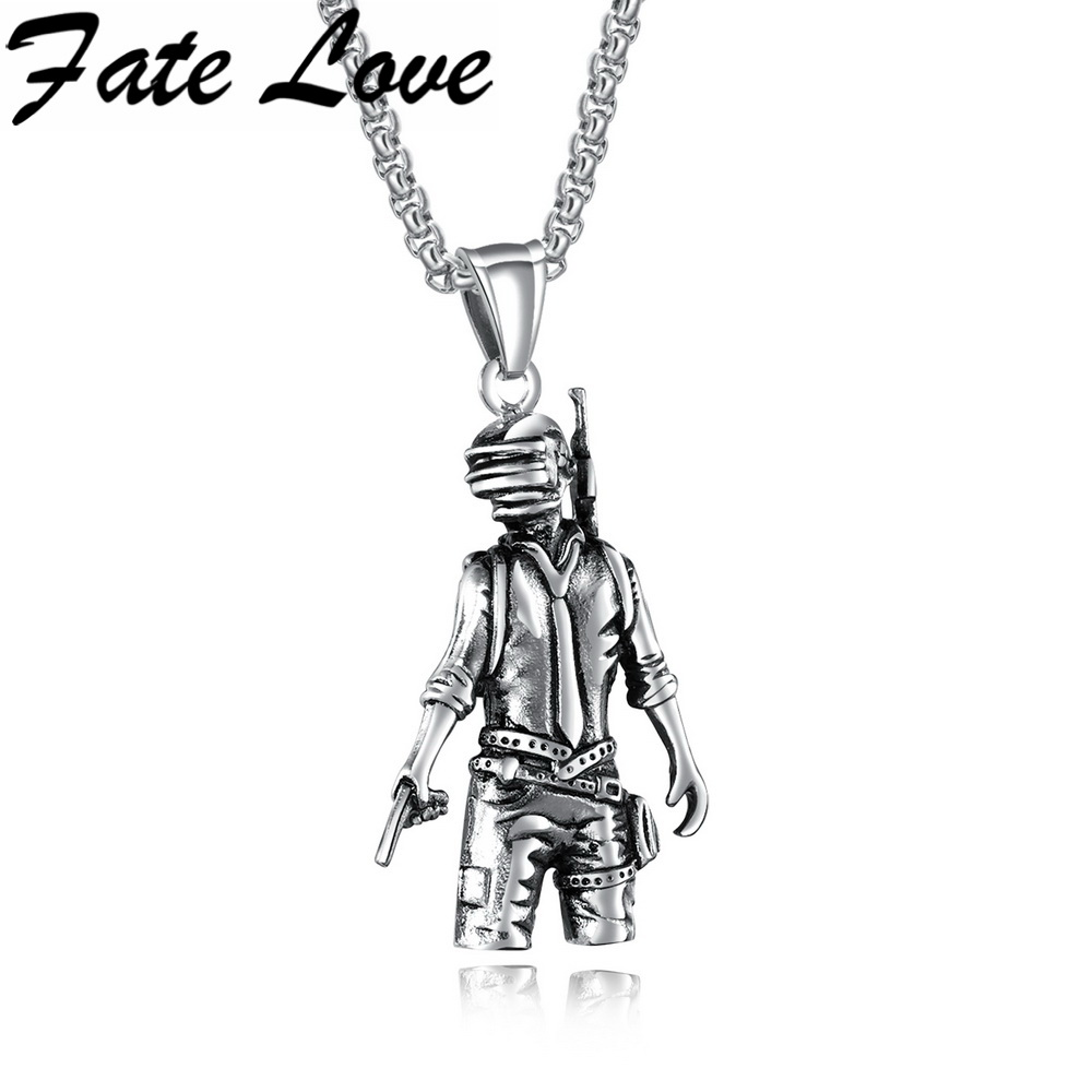 Fate Love Popular Game Boy Cool Man Pendant Necklace Game Character Box Chain Necklace For Man Toy Figure Trendy Gift FL1381