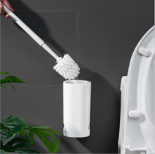Diatom Mud Toilet Brush Holder Bathroom Toilet Storage Bowl Brush and Holder Cleaning Set No Smell Wall Mounted Durable Type 16 toilet bowl brush and caddy in white [set of 12]