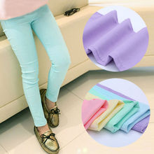 2019 Spring and autumn childrens pants candy colored girls baby girl clothes kids leggings