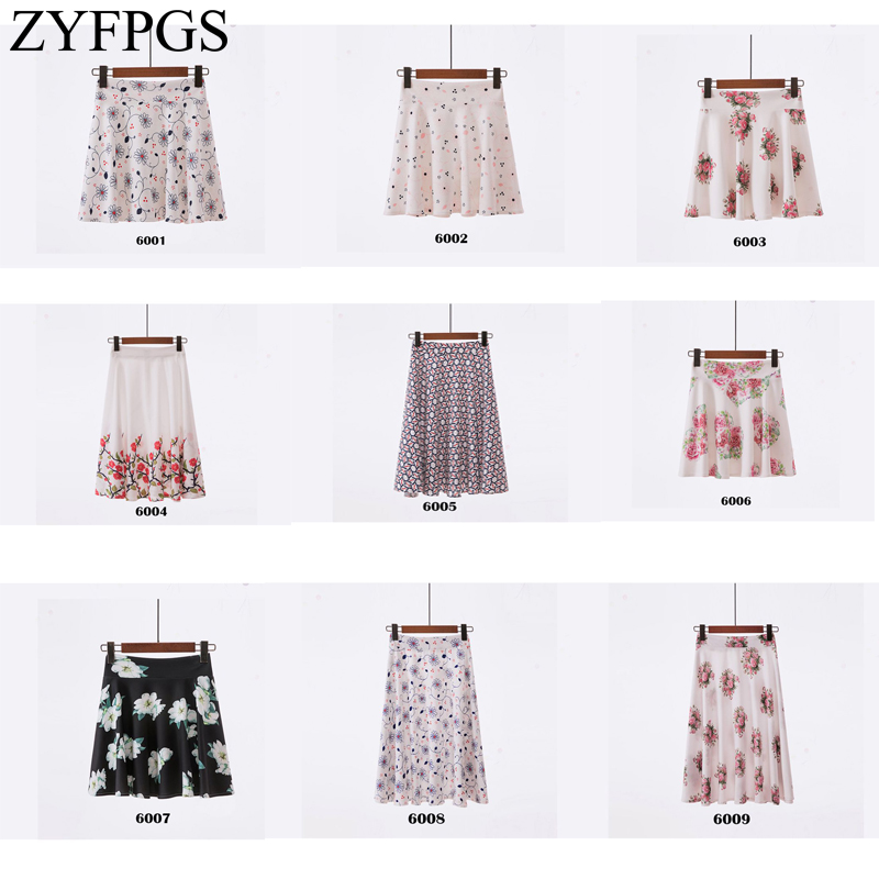 ZYFPGS 2019 Short Skirt Printing Pattern Tutu For Women Fashion Casual Summer And Autumn Mini Cute Youth Skirts Z0512