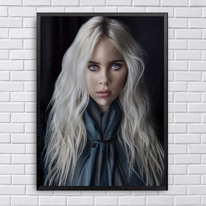 Billie Eilish Music Star Poster Canvas Art Print Wall