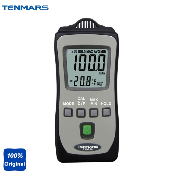 TM-730 Pocket Size Thermometer Measuring Humidity Temperature Tester Wet Bulb and Dew Point Meter digital thermometer hygrometer lcd display wet bulb dew point temperature meter humidity tester for food industry he710 th