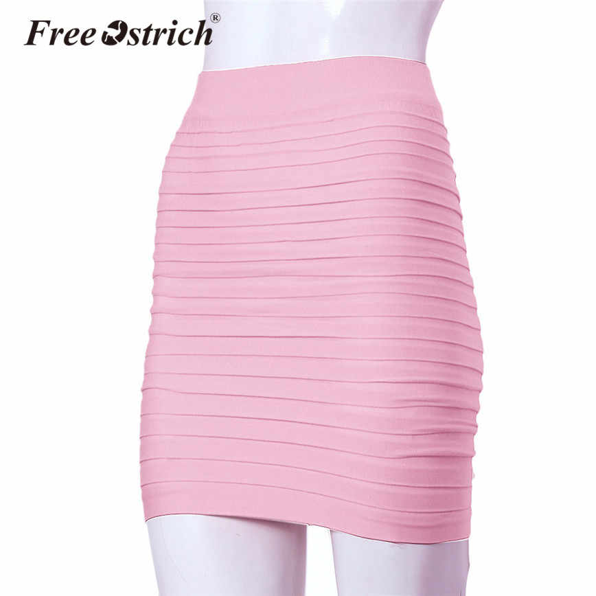 b5798691b62 ... Color Pleated Wrap Hips Elastic. RELATED PRODUCTS. Free Ostrich Midi  Skirt Sexy Bandge Leather Skirt Women High Waist Pencil Bodycon Solid  Elegant Short