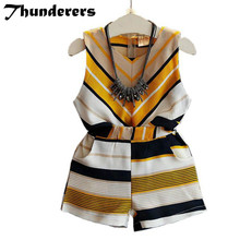 hot deal buy summer girls clothing sets baby toddler kids girl clothes striped sleeveless blouse tops+short pants 2pcs suit