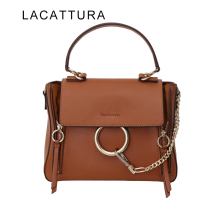 LACATTURA 2017 New Arrival It Bag Fashion Brand Design Handbag Women Genuine Leather Cloe Bag Real Cowskin Shoulder Bag