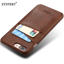 ZYSTERT Case For iPhone 7 Plus Cases Cover Leather Luxury Wallet Card Holder Soft Back Capa 7Plus Fundas