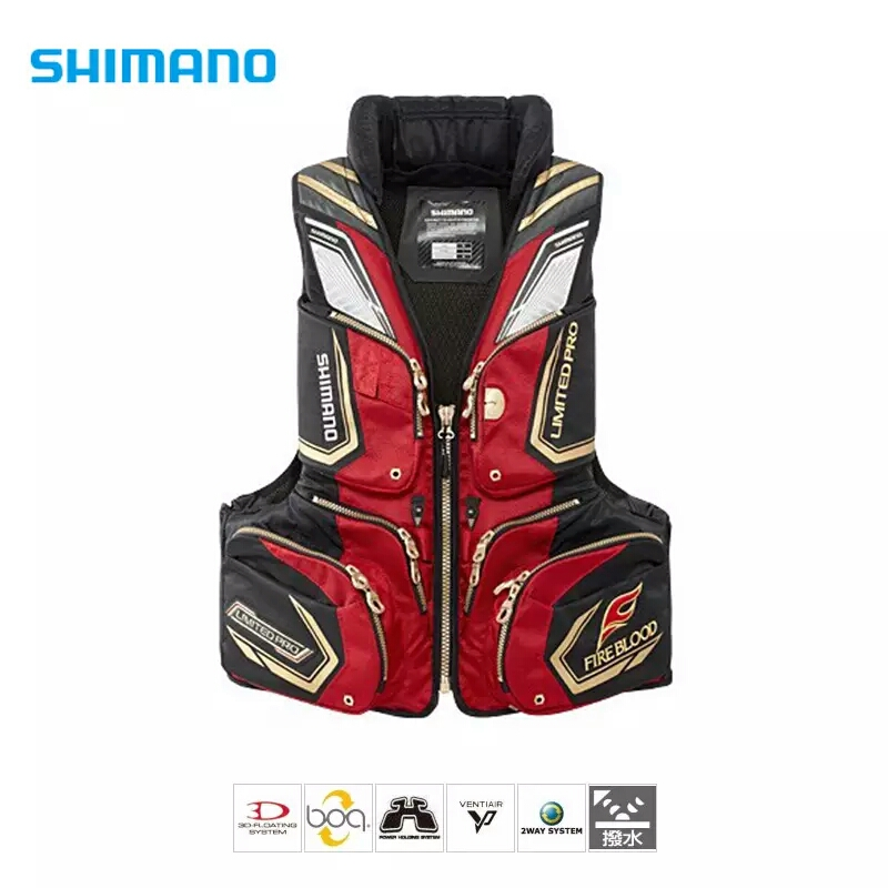2017 NEW shimano Fishing life jacket Breathable buoyancy120 kg Breathable Vest VF-111N Fishing gear Multi-function Free shipping