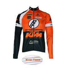 ropa ciclismo KTM Men Bike Clothing Cycling Jersey Thermal fleece invierno Winter Bicycle Clothes MTB Wear Sportwear I22
