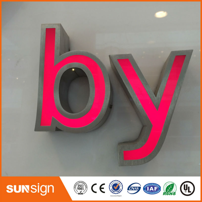 New ARRIVAL Advertising Decoration Chrome Stainless Steel Led Letters