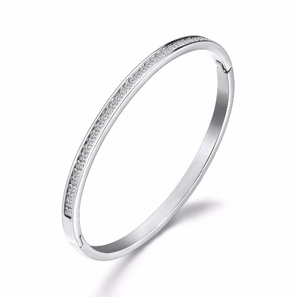 Korean fashion explosions hand-studded rose gold titanium steel bracelet jewelry watch accessories bracelet3-GH935