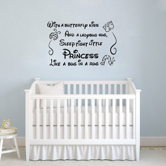 Poem Wall Decals Removable Art Vinyl Baby Girl Wall Stickers For Nursery  Girl Bedroom Decor Free