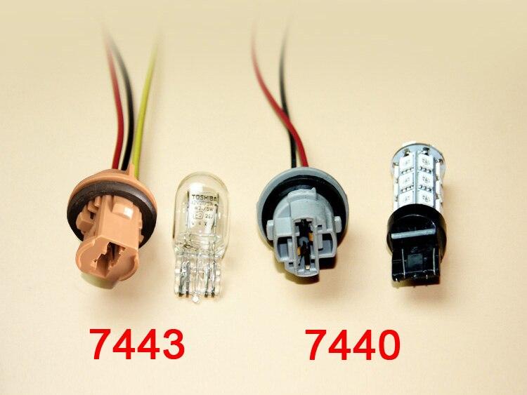 Skuer 2pcs T20 LED Socket 7440 7443 LED Bulb Holder Adapter Connector Lamp Wiring Harness Adaptor Socket Parking Side Light