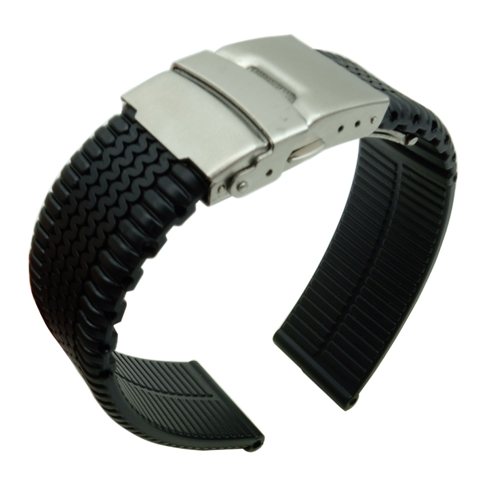 Silicone Rubber Watch Band 20mm 22mm 24mm rubber Strap Watchbands replacement for Samsung Gear Timex For seiko -2