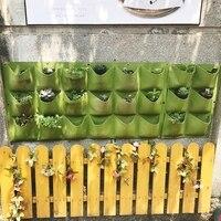 Outdoor 18 Pocket Indoor Balcony Herb Vertical Garden Wall Hanging Planter Bag Innovative Felt Plants Bags