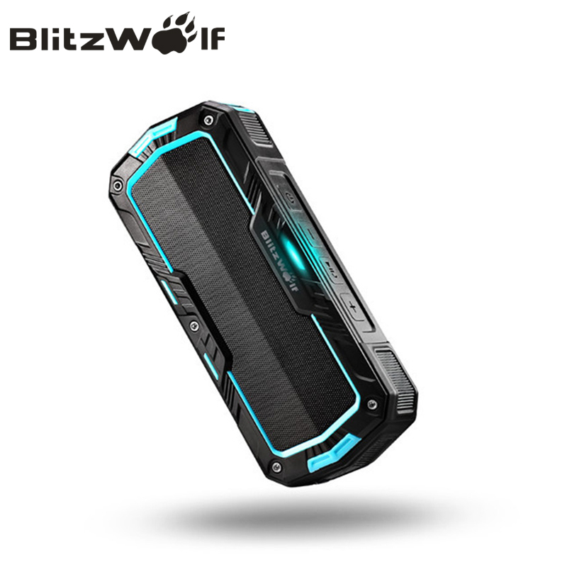 BlitzWolf Wireless Bluetooth Speaker Dual Driver Portable Waterproof Outdoor Sport Speaker For Android For iPhone Smartphone original earson er 151 waterproof shockproof bluetooth speaker for iphone 6 smartphone