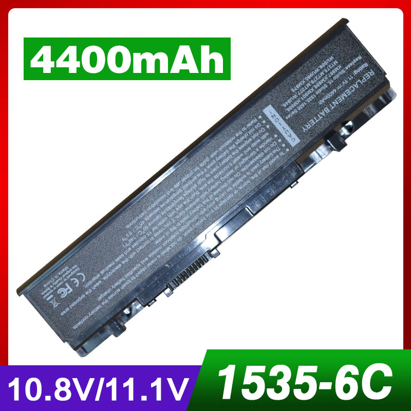 4400mAh battery for <font><b>Dell</b></font> <font><b>Studio</b></font> <font><b>1535</b></font> 1536 1537 1555 1557 1558 PP33L PP39L 312-0701 A2990667 KM958 WU946 image