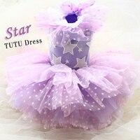 Free Shipping Advanced Custom Lightpurple Star 12 Layers Wave Tulle Skirt Luxury Dog Evening Dress Wedding