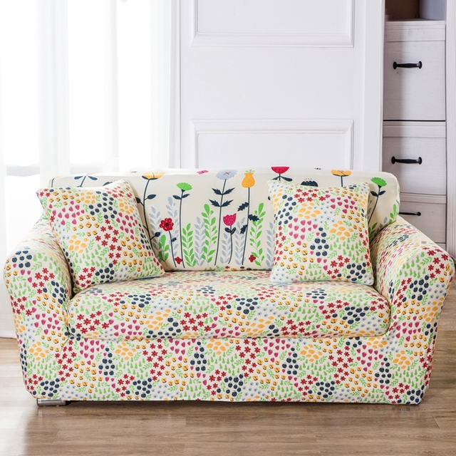 Flowers Couch Sofa Covers Universal Stretch Corner Slipcovers Multi Size  Removable Flowers Garden Elastic L Shape Sofa Covers